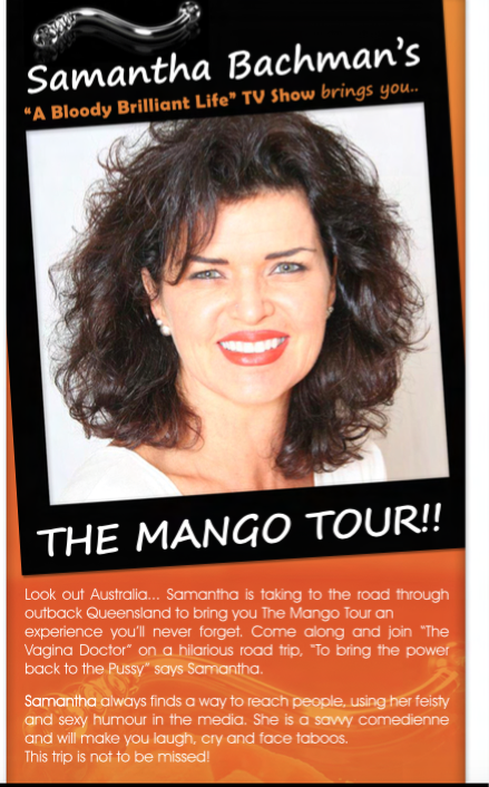 Mango juicer tour flyer