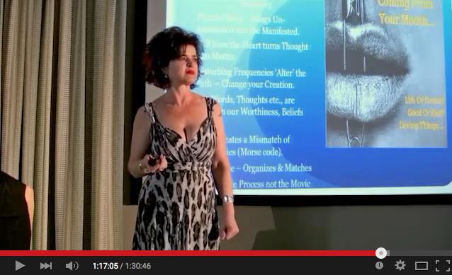 Samantha Rayn Bachman speaking at the AV6 Event in London 2015